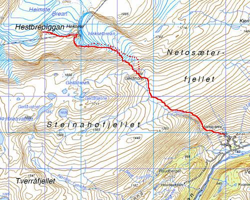 bøverdalen kart Turer bøverdalen kart